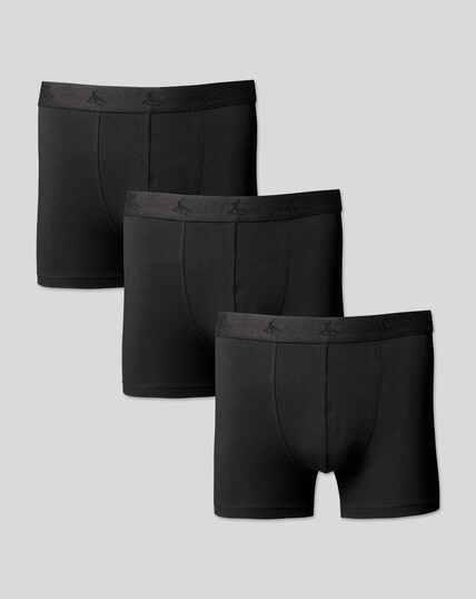 3er-Pack Stretch-Unterhosen aus Jersey - Schwarz