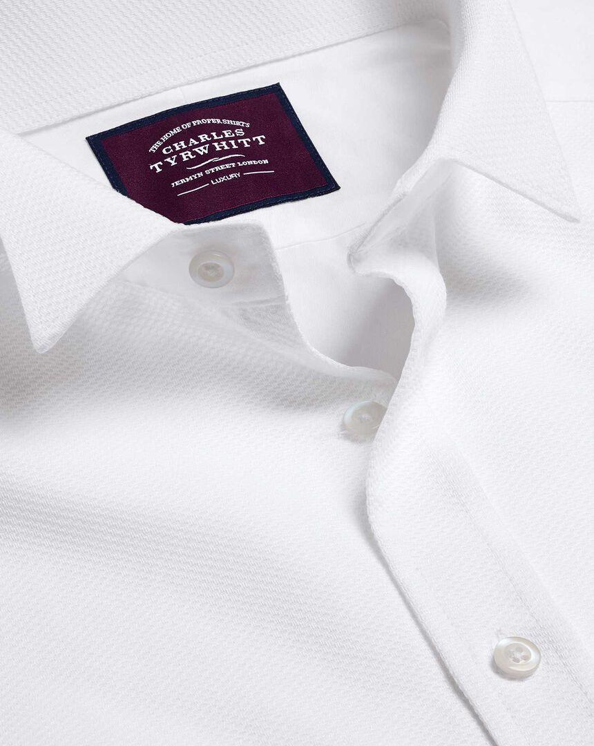 Wing Collar Marcella Bib Evening Shirt - White