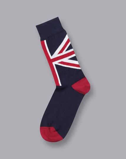 Union Jack Socks - French Blue