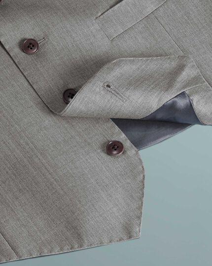 Silver adjustable fit Italian suit waistcoat
