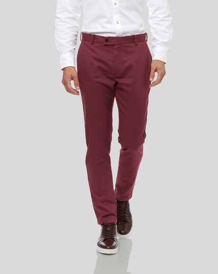 Ultimate Non-Iron Chinos - Berry