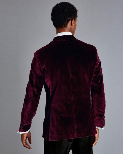 Italian Velvet Jacket - Burgundy