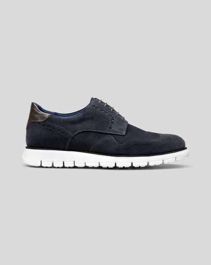 Hybrid-Sneaker aus Wildleder - Marineblau