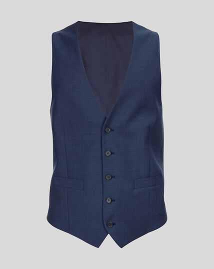 Herringbone Suit Vest - Royal Blue