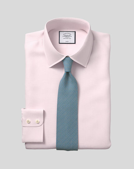 Classic Collar Non-Iron Micro Diamond Shirt - Pink