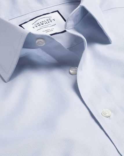 Bügelfreies Twill-Hemd - Silber