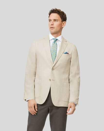 Italian Linen Jacket - Cream