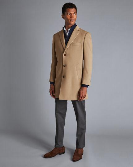 Wool Overcoat - Camel
