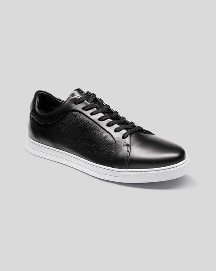 Leather Sneakers - Black