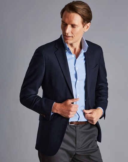 Italian Luxury Twill Jacket - Navy