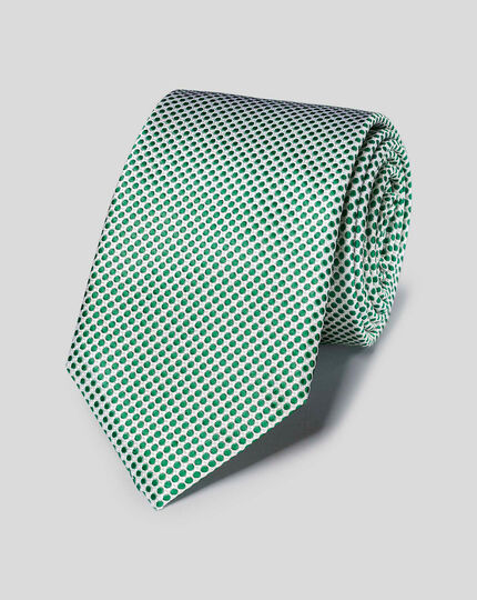 Silk Spot Tie - Green