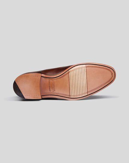 Oxford-Schuhe Made in England mit flexibler Sohle - Mahagonibraun
