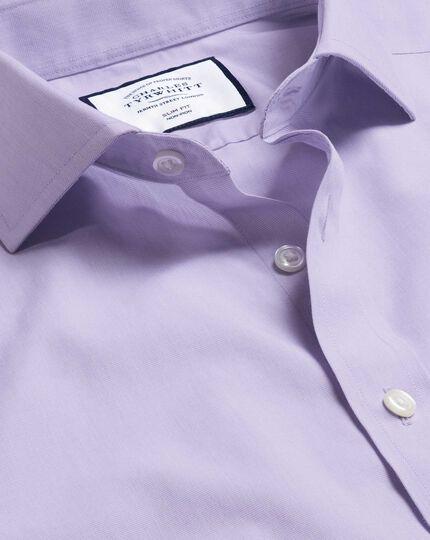 Spread Collar Non-Iron Tyrwhitt Cool Poplin Shirt - Lilac