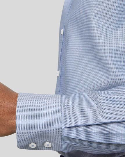 Spread Collar Non-Iron Ludgate Weave Shirt - Blue