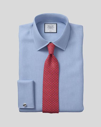Non-Iron Micro Diamond Shirt - Blue