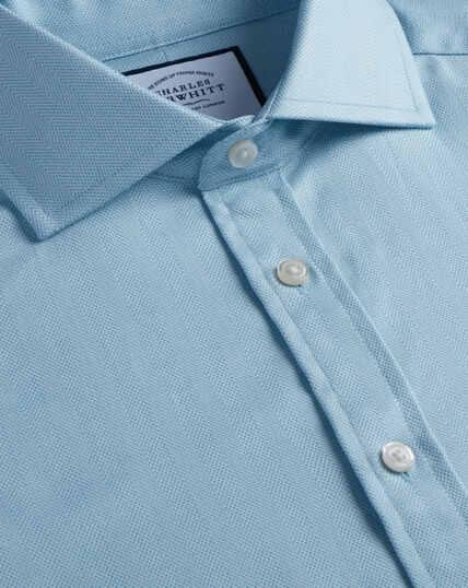 Cutaway Cotton Stretch With Tencel™ Shirt - Teal
