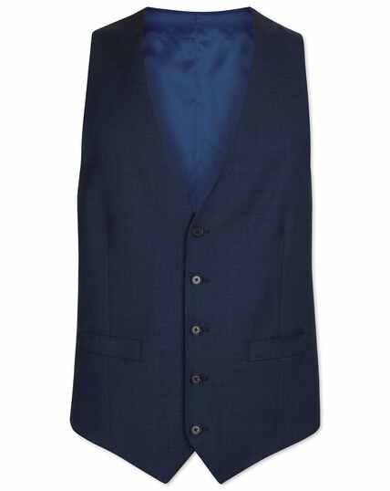 Airforce blue adjustable fit birdseye travel suit vest