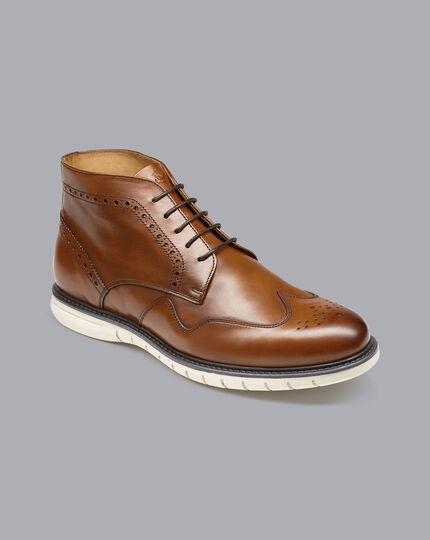 Brogue Boots - Tan