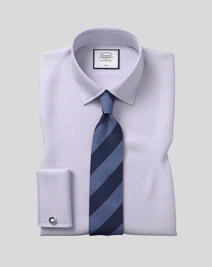 Silk Textured Block Stripe Tie - Sky & Navy