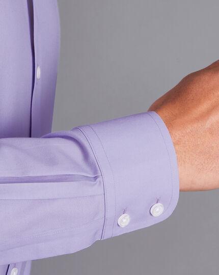 Non-Iron Twill Shirt - Lilac Purple