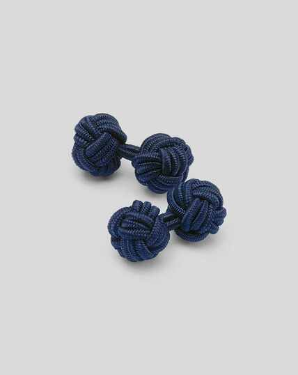 Knot Cufflinks - Indigo Blue