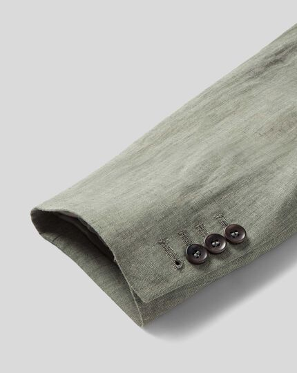 Italian Linen Jacket - Green