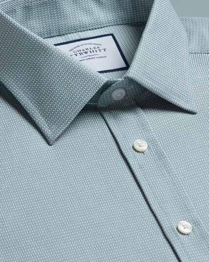 Egyptian Cotton Chevron Shirt - Teal