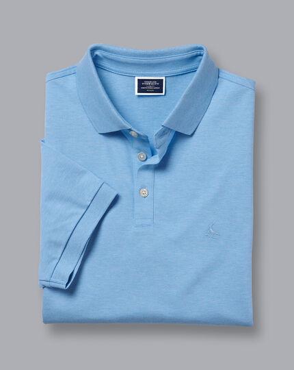 Tyrwhitt Pique Polo - Cornflower Blue