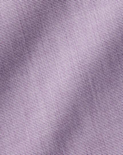 Semi-Cutaway Collar Egyptian Cotton End-on-End Shirt - Purple