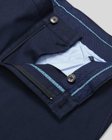 Textured Chinos - Navy