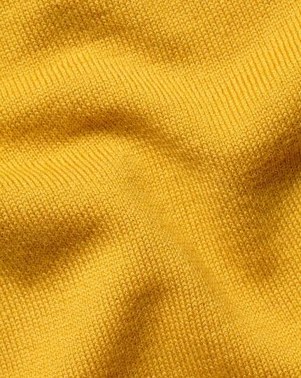 Merino V-Neck Sweater - Dark Yellow
