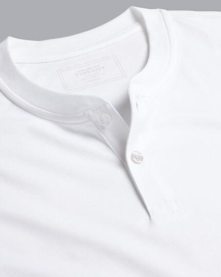 Henley Long Sleeve Top - White