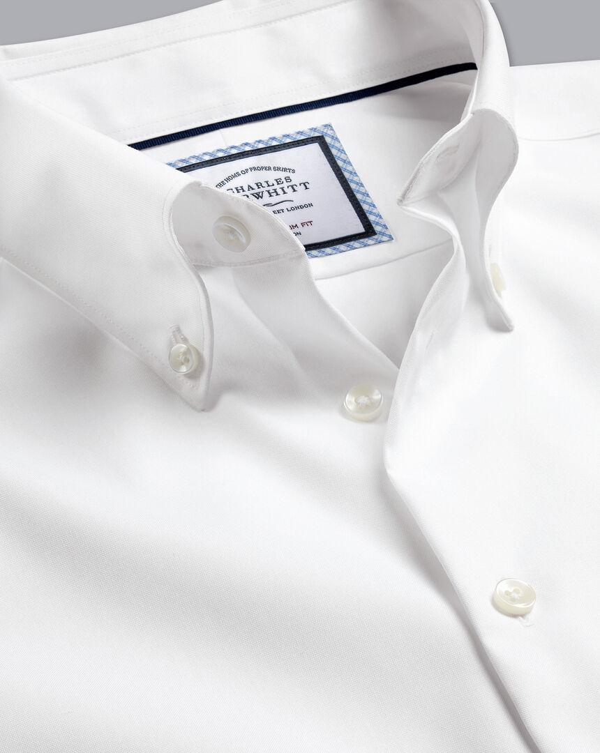 Button-Down Collar Non-Iron Shirt - White
