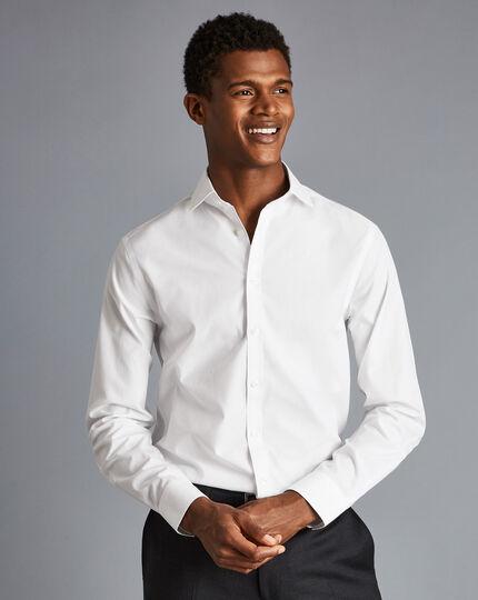 Cutaway Collar Non-Iron Tyrwhitt Cool Poplin Shirt - White
