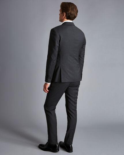 Business Suit Textured Jacket - Steel Grey