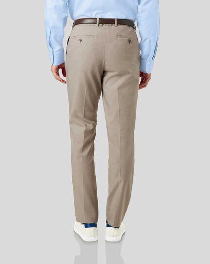 Non-Iron Arrow Weave Stretch Pants - Stone