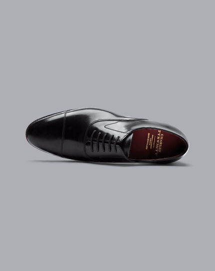 Made In England Oxford Flex Sole Shoes  - Black