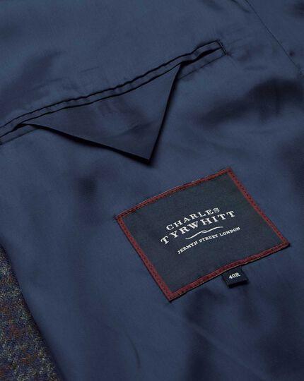 Car Coat aus Wolle mit Hahnentritt und Deckkaros - Blau & Rot