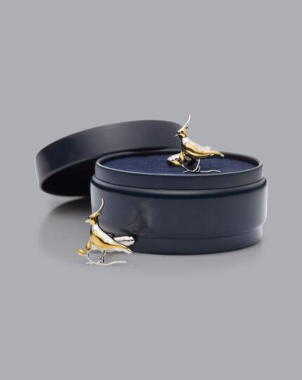 Lapwing Cufflinks - Gold & Silver