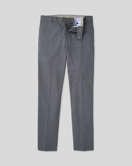 Non-Iron Arrow Weave Stretch Pants - Navy
