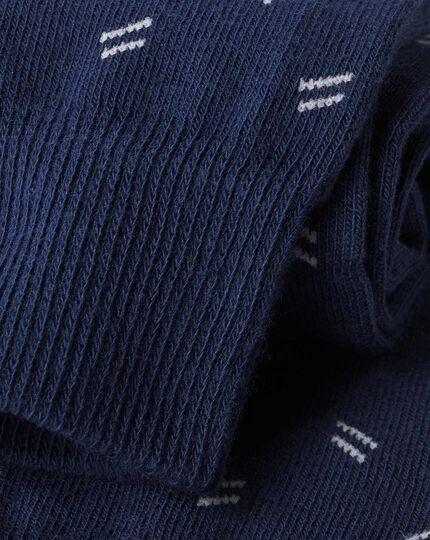 Dash Socks - Navy & White