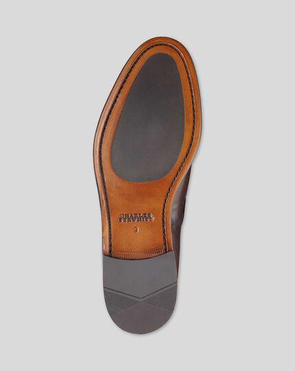 Flexible Sole Tassel Loafers - Chocolate