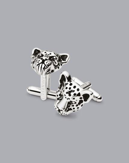 Leopard Cufflinks - Silver