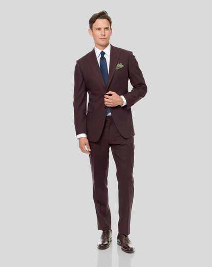 Semi-Plain Suit - Aubergine