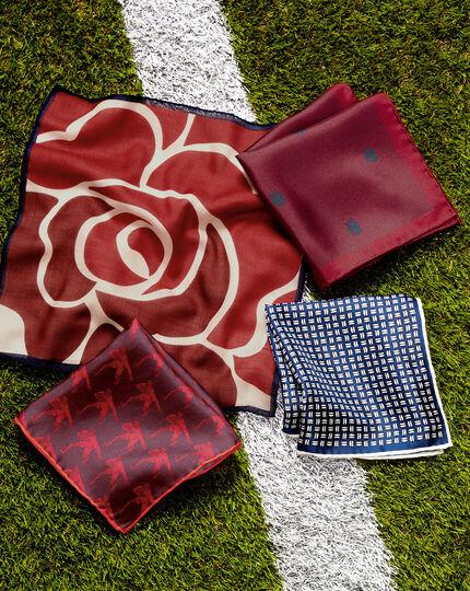 Einstecktuch mit England Rugby-Rose - Beerenrot