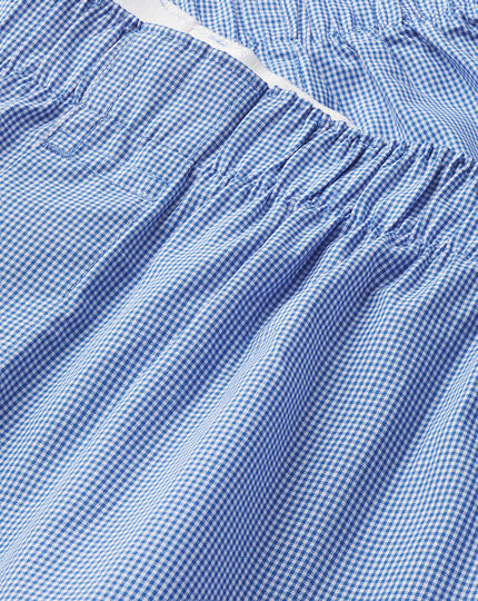 Micro Grid Woven Boxers - Royal Blue