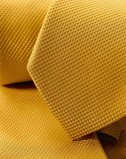 Schmutzabweisende Krawatte aus Seide mit Strukturgewebe - Gold