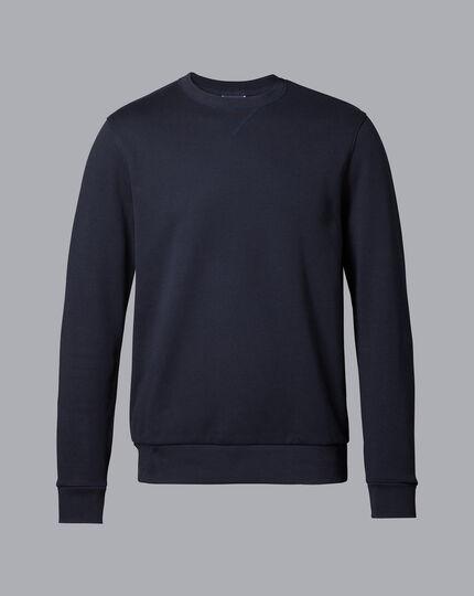 Jersey-Pullover mit Rundhals - Marineblau