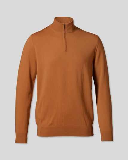 Troyer aus Merino - Orange