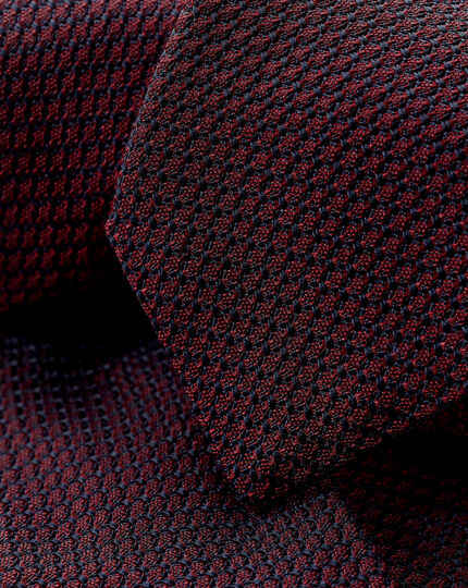 Silk Grenadine Italian Luxury Tie - Maroon